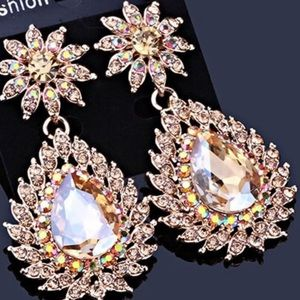 Austrian Crystal Bridal Pageant Occasion Earrings
